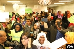 Somali community welcomes Abdi Warsame's election win. (Photo: Somali Service)