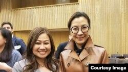 ທ.ນ. ນ້ອຍກັບດາລາ ສະແດງຮູບເງົາ, Michelle Yeoh, ທີ່ເປັນທູດດ້ານສ້າງຄຸນງາມຄວາມດີຂອງ UNDP, ວັນທີ 28 ກຸມພາ, 2019
