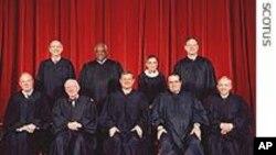 Les membres de la Cour supreme des Etats-Unis (Archives)