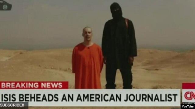 Anh cho biết công nghệ nhận dạng giọng nói tinh vi được sử dụng để lần ra kẻ đội mũ trùm đứng cạnh ký giả James Foley.
