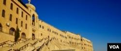 The 4th century monastery of St. Matthew, Iraq, Nov. 2, 2016. (J. Dettmer/VOA)
