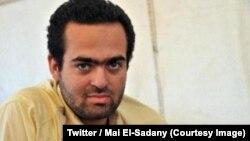 """Le militant Mohamed Adel placé en détention préventive pour une période de 15 jours, accusés de diffusion de """"fausses informations et incitation à la violence"""", en Egypte, 19 mai 2018. (Twitter/Mai El-Sadany)"""