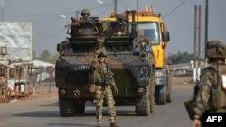 Des soldats français en patrouille à Bangui (Archives)