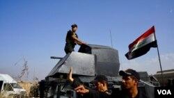 Спецназ армии Ирака захватил город Бартилла, в километре от Мосула. Ирак. 31 октября 2016 г.