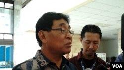 Wakil Menteri ESDM Susilo Siswoutomo (Foto: VOA/Iris Gera)