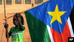 Un petite Sud-soudanaise à Juba le 30 janvier 2011