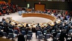 미국 뉴욕 유엔본부에서 열린 유엔 안전보장이사회 회의장. (자료사진)