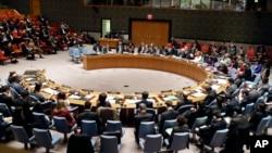 지난해 12월 뉴욕 유엔본부에서 열린 유엔 안전보장이사회 회의에서 북한 인권 문제가 논의되고 있다. (자료사진)