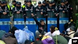 太阳花学运示威(2014年3月20日 资料照片)