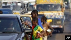 Child beggars on the streets of Dakar (file photo)
