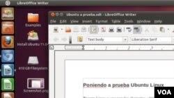Además de un nuevo aspecto visual muy atractivo, Ubuntu también incluye gratis aplicaciones como LibreOffice.