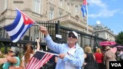 美国古巴复交 古巴驻美使馆升旗