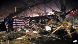 密西西比州遭龍捲風襲擊,損毀嚴重。