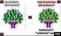 HDP'yi PKK'yla ilişkilendiren bir fotoşoplu bir grafik, hükümete yakın medya organlarında haber malzemesi yapıldı