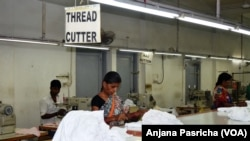 The Trans Pacific Partnership Agreement was also expected to hit export of yarn and textiles in India. (A. Pasricha/VOA)