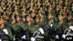 Lực lượng đặc biệt Cuba diễn hành ở Havana hôm 16/4/11