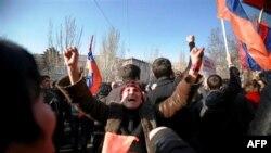 Протесты в Ереване 17 марта 2011г.