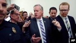 Mark Meadows, président du House Freedom Caucus, un groupe de représentants républicains ultra-conservateurs.