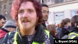 Student Pierre-Antoine Charpentier wants French President Emmanuel Macron to go.