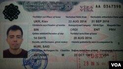 Səid Nurinin ABŞ pasportunda Azərbaycan vizası