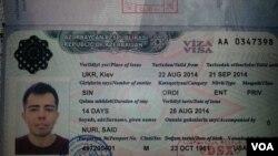 Said Nurinin Azərbaycan vizası