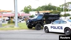خودروی ماموران پلیس در باتون روژ
