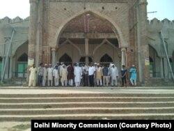 ہریانہ کے علاقے پلول میں زیر تعیمر مسجد کا ایک منظر