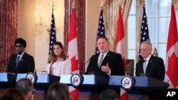 美國和加拿大2018年12月14日舉行2+2會談(美聯社)