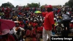 FILE: Morgan Tsvangirai addressing supporters in Harare.