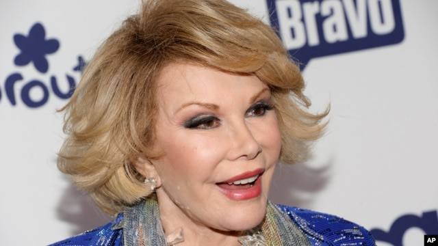 FILE - Joan Rivers attends the NBCUniversal Cable Entertainment 2014 Upfront at the Javits Center in New York, May 15, 2014.