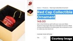 A screenshot of Trump's Red Cap Collectible Ornament, Thursday, Nov. 24, 2016. (Courtesy photo)