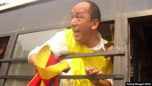 TYC President Tsewang Rigzin was arrested outside the Chinese embassy in New Delhi on November 12, 2012.