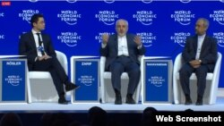 محمد جواد ظریف و محمد نهاوندیان نمایندگان ایران در نشست مجمع جهانی اقتصاد