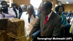 Zimbabwe Mugabe's Birthday - Cuts B'day Cake