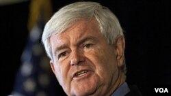 El aspirante republicano Newt Gingrich encabeza los sondeos en su partido.