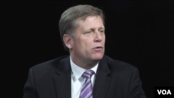 Former U.S. Ambassador to Russia Michael McFaul is among those whom Russian President Vladimir Putin accuses of crimes.