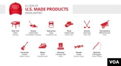 Graphic: A look at U.S. made products highlighted during Made in America Week
