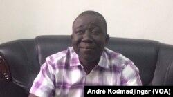 Alladoum Djarmah Balthazar rapport general du CNDP membre de l'opposition, le 26 fevrier 2019. (VOA/André Kodmadjingar)