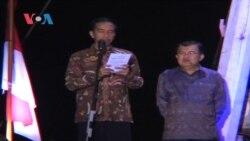Jokowi Sampaikan Pidato Kemenangan di Pelabuhan Sunda Kelapa