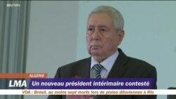 Un nouveau président intérimaire contesté