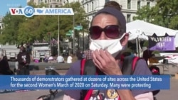 VOA60 Ameerikaa - Demonstrators gathered across the United States for the second Women's March of 2020