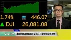 VOA连线(乔栈):美国中期选举后首个交易日三大股指全线上扬