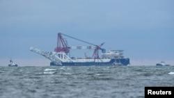 Фото: судно «Фортуна» перебуває під санкціями США, через участь в проекті «Північний потік-2»