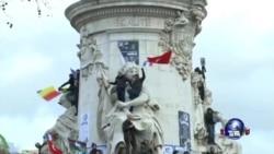 巴黎为自由与团结举行游行集会
