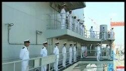 2012-09-26 美國之音視頻新聞: 中國高層參加第一艘航母入列儀式