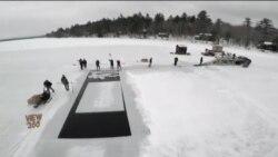 امریکی ریاست نیو ہیمپشائر میں برف بنانے کی صدیوں پرانی روایت
