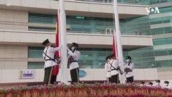 香港社民連中國國慶日遊行爭普選 批8千警力佈防不合理