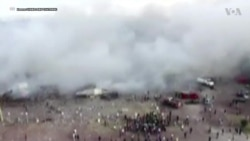 Video from Mexico City fireworks market explosion