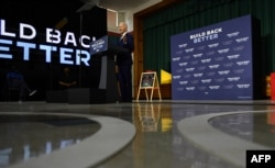 """FILE - Joe Biden, then a presidential candidate, speaks about his """"Build Back Better"""" economic recovery plan for working families, July 21, 2020, in New Castle, Del."""