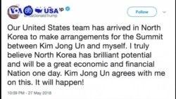 VOA60 America - US, N. Korean Officials Negotiate Possible Trump-Kim Summit
